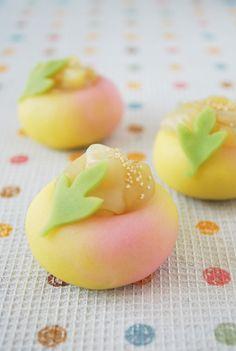 茶席上生菓子『芽吹き南天』 めぶきなんてん
