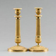 Par de casticais Franceses em bronze gilded a ouro da primeira metade do sec.19th, 27cm de altura, 3,710 USD / 3,260 EUROS / 12,970 REAIS / 23,960 CHINESE YUAN soulcariocantiques.tictail.com