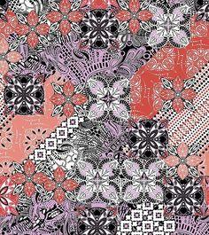 Ethnic Geometric Patchwork Design by Dafni Miliara – Fully editable AI (Adobe Illustrator) file + 2 additional colorways - Abby Thomas - Wallpapers Designs Ethnic Patterns, Textile Patterns, Textile Design, Print Patterns, Textile Prints, Textiles, Pattern Bank, Pattern Design, Print Design