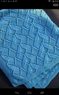 Lace Knitting, Baby Knitting Patterns, Knitting Stitches, Baby Patterns, Crochet Patterns, Knitted Afghans, Knitted Baby Blankets, Baby Boy Blankets, Crochet Collar