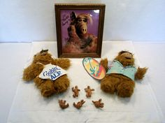 Lot of ALF hawaiian surfer cookin puppet signature alien plush figure lot A USED #unknown #HANDPUPPET