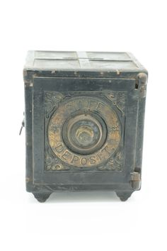1890's cast iron combination still bank by Henry Hart.