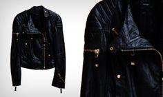 Jaqueta de couro preta!