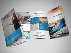 Create a brochure by using a template for corporate, creative, or marketing brochures.