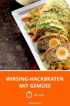 Wirsing-Hackbraten mit Gemüse