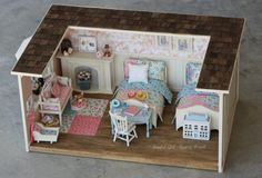 Custom Order Miniature 1:12 sized Furnished Roombox