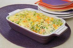 Receita de arroz cremoso com legumes