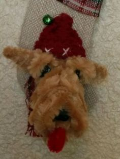 AWESOME STOCKING!!!  Airedale-Lakeland-Welsh-Terrier-Handmade-Christmas-Stocking