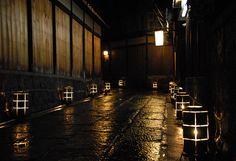 Near the Ryokan Uemera, Lit for Hanatouro by Neil Hunt, via Flickr