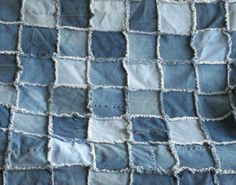Denim Quilt - How To Make A Raggedy Denim Quilt - InfoBarrel