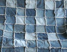 Denim Quilt - How To Make A Raggedy Denim Quilt - InfoBarrel