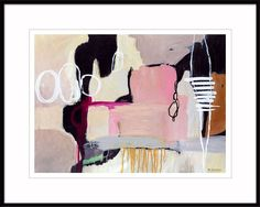 Gift for her large pink abstract painting minimalist
