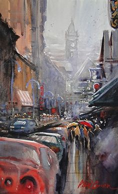 Harbor Town Mist by Paul Oman was awarded Outstanding Watercolor in the February 2013 BoldBrush Painting Competition.