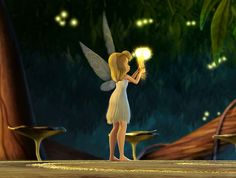 Tinkerbell discovering her talent..