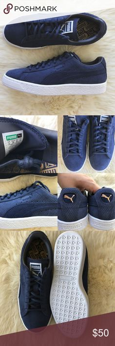 700417d424a6 Puma Navy Suede Classic Lo Winterized Sneakers •Winterized navy suede  sneakers. •Women s size