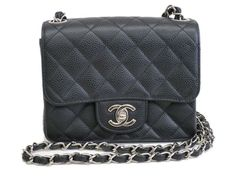 #Chanel Mini Single Flap Shoulder Bag Lamb Skin Black A01115 (BF075918). Authenticity guaranteed, free shipping worldwide & 14 days return policy. Shop more #preloved brand items at #eLADY: http://global.elady.com