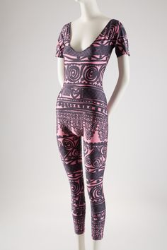 Lacroix cat suit inspired by Diaghilev dance costumes, 1990s. #dancefashion / Via Beverley Birks