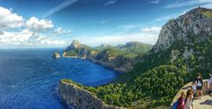 Mirador des Colomer Amazing view from a viewing point known as Mirador des Colomer, at Cap Formentor on the north eastern tip of the Spanish island of Mallorca Photography by Alistair Ford Spanish Islands, Barcelona, Go See, Travel Images, Travelling, Spain, Ford, Cap, Building