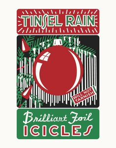 Tinsel Rain Icicles Metal Sign Looking for a cute sign to add to your store or home decor? Are you going with a vintage look? Search no more, we have the sign! Noel Christmas, Retro Christmas, All Things Christmas, Christmas Crafts, Christmas Decorations, Christmas Ornaments, Christmas Ideas, Christmas Boxes, Christmas Labels