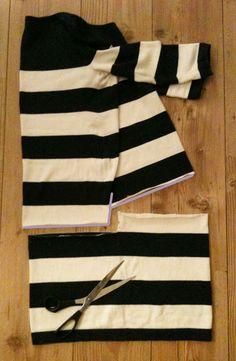 von mri: Refashion: Hi Low Pullover from a knit dress / regular pullover tutorial