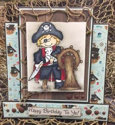 "High Hopes Stamps: Happy New Year by Lora using ""Peg Leg Pete"" (R088)"