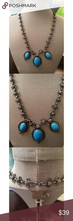 Beautiful Vintage Egyptian Necklace Vintage Egyptian Necklace  ✨ You will not find anyone else wearing this unique beauty ✨ ✨ Dark Silver Tone sarrah Jewelry Necklaces