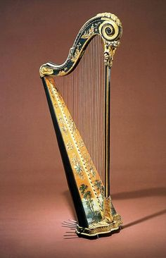 Godefroi Holtzman Pedal harp about 1785