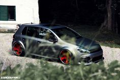 Stanced Volkwagen Golf GTI