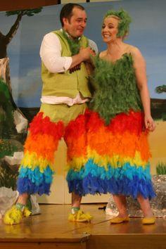 Kostüme Papagena und Papageno, Oper Zauberflöte