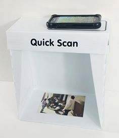 QuickScan Tabletop Smartphone Scanner Lighting Studio Photo Box by UniGrip Pro White Photo Studio Lighting, Camera Store, Thing 1, Tripod, Protective Cases, A Table, Cell Phone Accessories, Smartphone, Albums