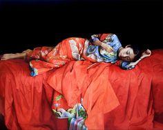 Zhao Kailin 'Awaken the young girl' oil on linen 2008