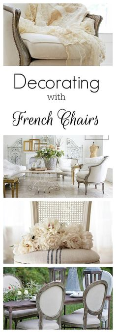 Creative Decorating and Shopping For French Chairs | Shabbyfufu