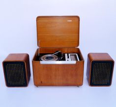 """Murphy """"Stereo Cube"""" Record Player/Radiogram 1970's"""