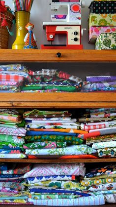 Use vintage fabrics to create throw pillows, blankets, etc.