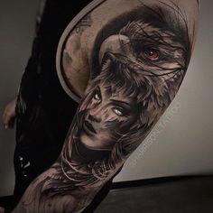 Adler und Augen Arm Tattoo Eagle and eyes arm tattoo Native American Tattoos, Native Tattoos, Eagle Tattoos, Wolf Tattoos, Forearm Tattoos, Animal Tattoos, Body Art Tattoos, Sleeve Tattoos, Tatoos