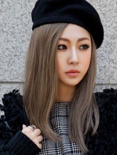 Dark ash blonde hair on Asians