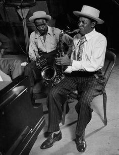 Illinois Jacquet and Harry Edison-1944-Gjon Mili