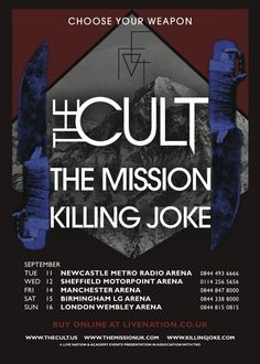The Cult, The Mission, Killing Joke team up for 5-date U.K. arena tour this September