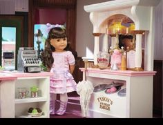 Samantha's Ice Cream Parlor and new outfit. American Girl Beforever Samantha