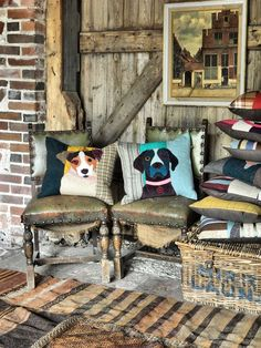 Carola van Dyke Cushions. Rustic country farmhouse