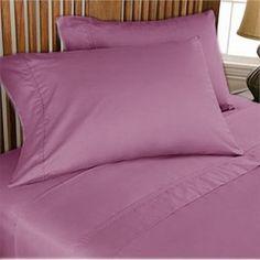 500TC Luxurious Egyptian Cotton Dark Lavender Sheet Set 4pc