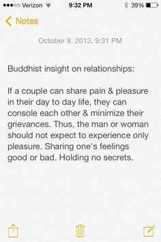 Buddhist insight relationships
