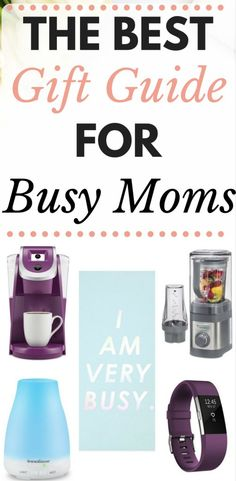 This is a great gift giving guide for busy moms. Have a super stressed mom you need a gift for? Click through to see some great ideas.
