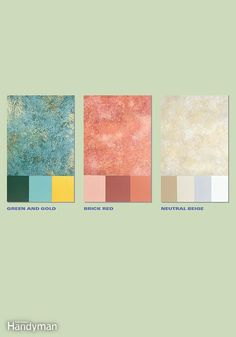 Before you sponge paint a wall, experiment with different color combinations . I... - http://home-painting.info/before-you-sponge-paint-a-wall-experiment-with-different-color-combinations-i/