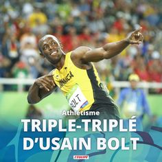 Usain Bolt - 4x100 mètres - J.O. Rio 2016 Manchester United, Usain Bolt, Pro Evolution, Rio 2016, Baseball Cards, Sports, Html, Events, Man United