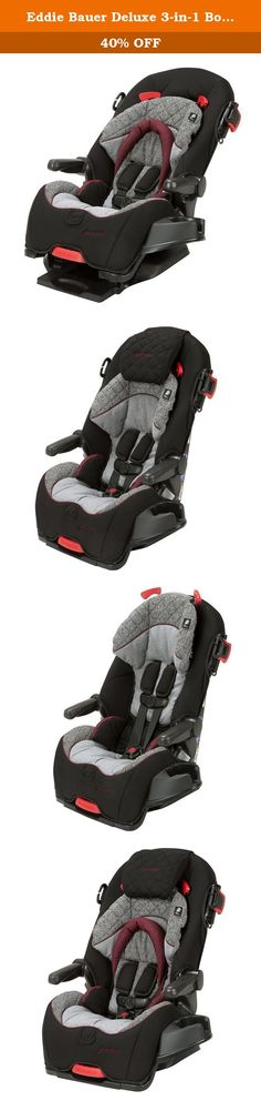 Eddie Bauer Deluxe 3-in-1 Booster Seat, Gentry. Give your child a comfortable ride from birth through their early school years with the Eddie Bauer 3-in-1 Convertible Car Seat. This extended use car seat works in three separate modes: rear-facing infant seat from 5-40 pounds, forward-facing harnessed car seat from 22-65 pounds, and then as a belt-positioning booster from 40-100 pounds. Through every stage, the seat provides your child with a comfortable and customized ride with soft…