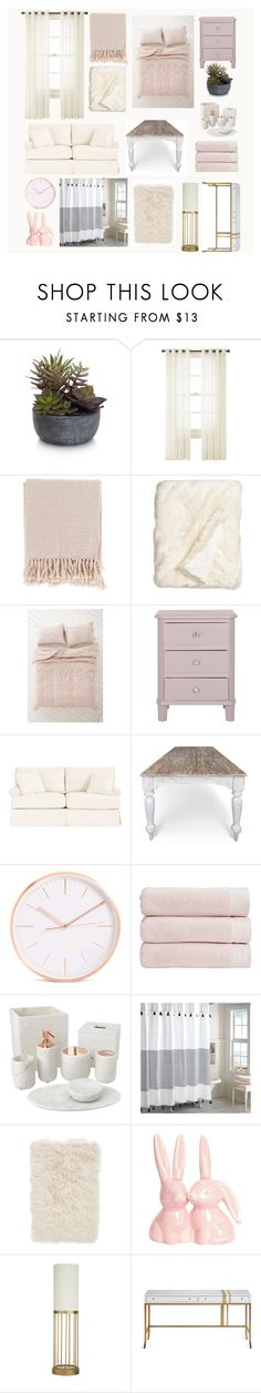 """""""Dream Dorm"""" by veganwithachainsaw ❤ liked on Polyvore featuring interior, interiors, interior design, home, home decor, interior decorating, Elements, Royal Velvet, Surya and Nordstrom"""