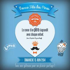 Fête des Pères. Dimanche 15 juin 2014. Boulangerie Mas Saint Pierre. Page pro Facebook. #graphisme #Fathersdaygifts #love