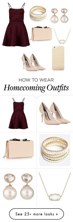 """""""Homecoming - AGAiN"""" by swimmer1023 on Polyvore featuring Boohoo, Sophia Webster, See by Chloé, ZooShoo, Samira 13, Kendra Scott and Kate Spade"""
