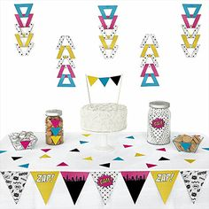 BAM! Girl Superhero - Piece Triangle Party Decoration Kit - 72 Pieces Big Dot of Happiness http://www.amazon.com/dp/B00PGB5V6Q/ref=cm_sw_r_pi_dp_B-Wawb17XPXKN